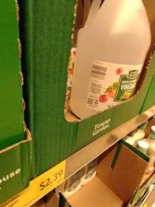 vinegar bottle aldi