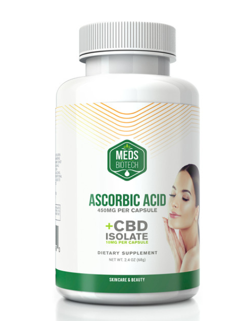 CBD Ascorbic Acid Capsules from Meds Biotech 500mg CBD Capsules