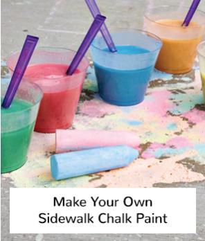 make your own sidewalk chalk paint