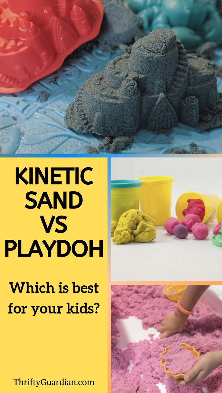 kinetic sand vs playdoh