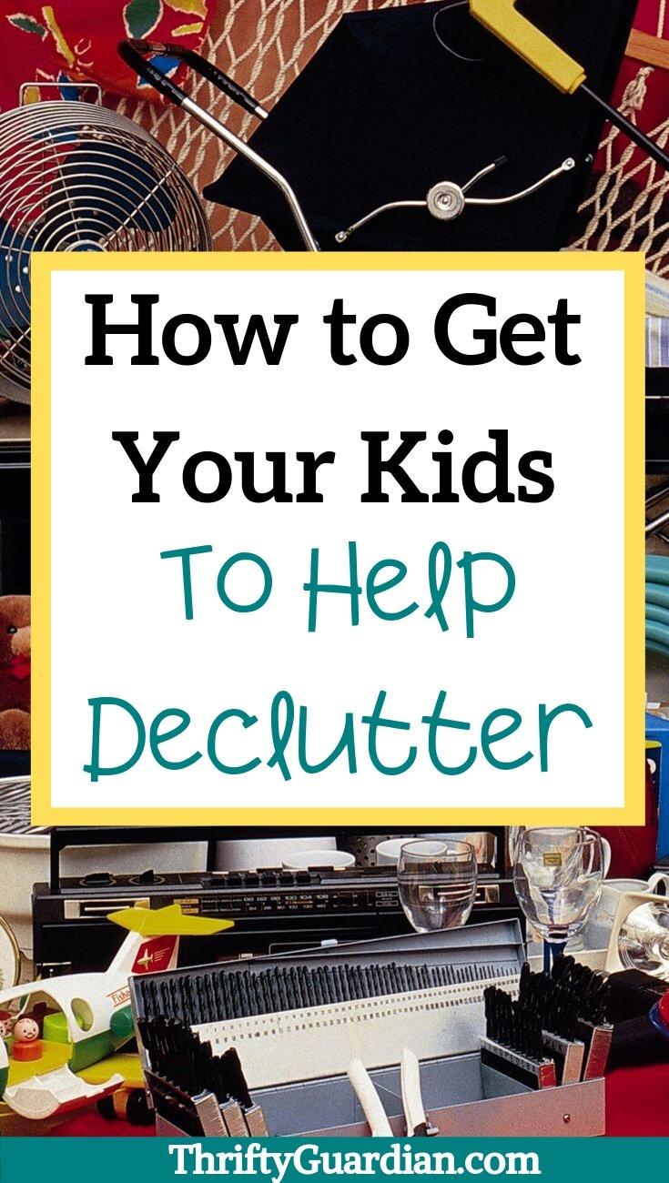 get kids to help declutter