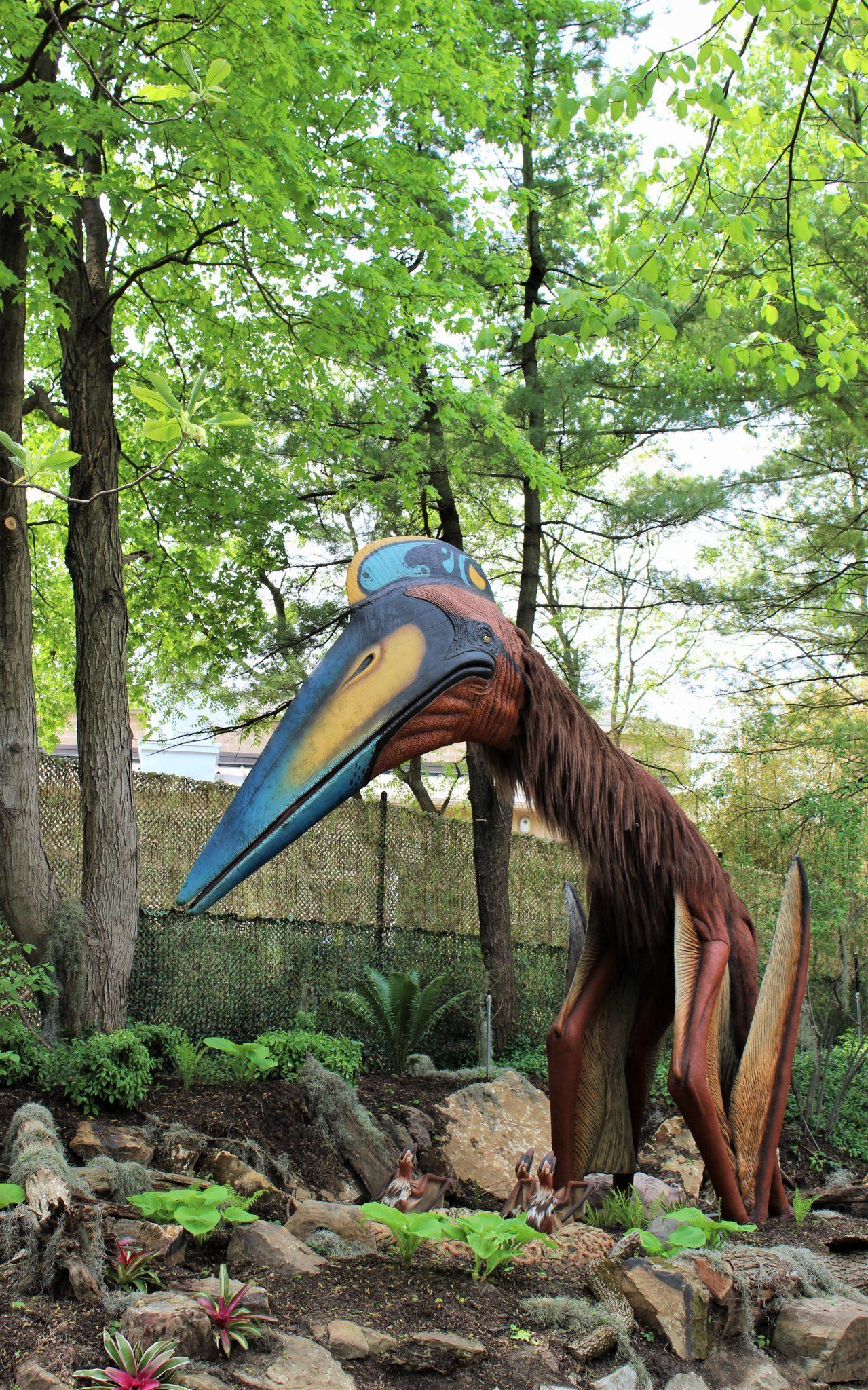 animatronic quetzalcoatlus at st louis zoo