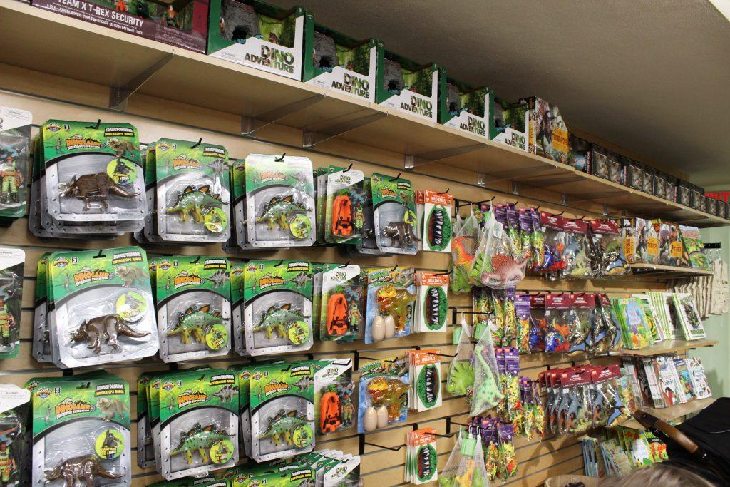 gift shop dinosaur toys